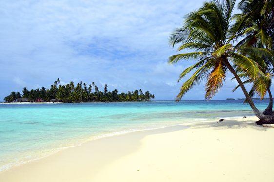 Beach with white sand