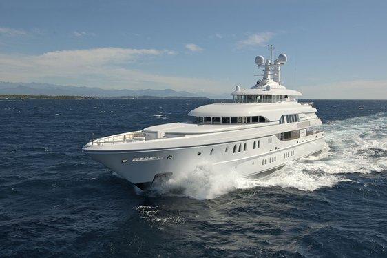 Huntress on charter cruising in the Mediterranean