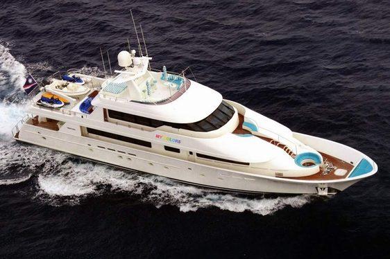 TRISARA cruising in the Caribbean