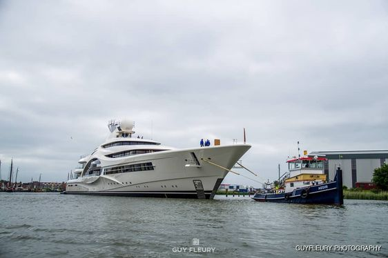 Largest Feadship superyacht launched: 110m 'Feadship 1007' hits the water