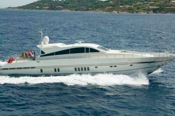 Charter yacht Disco Volante crusing in St Tropez