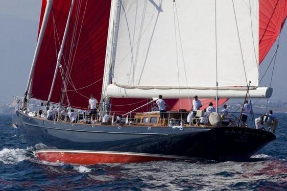 sailing yacht SHAMOUN  competing in a regatta charter