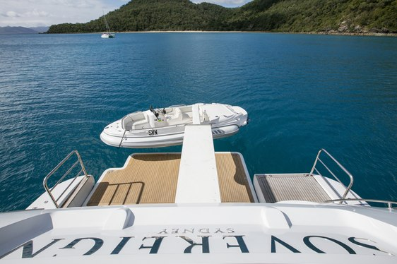 Superyacht SOVEREIGN with tender in Australian  waters