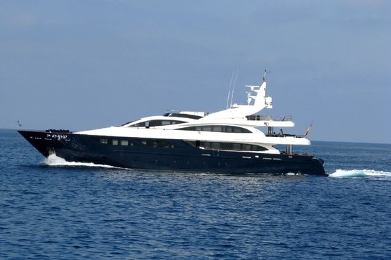 Charter Yacht SAMURAI ONE cruising in the Balearic Islands