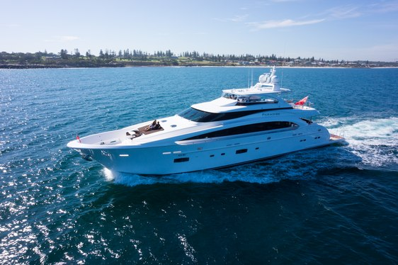 Luxury yacht Paradise cruising on charter in Australia waters