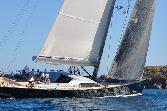 Perini Navi yacht racing at Perini Navi Cup