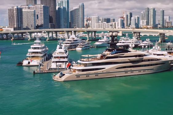 superyacht KISMET in Miami for the Miami Yacht Show