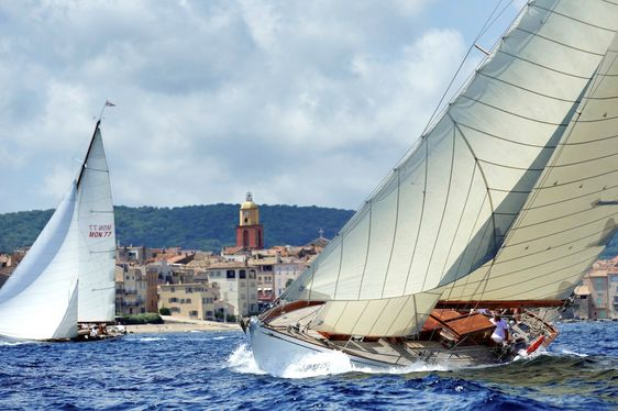 Sailing Yachts Gather for Les Voiles de Saint-Tropez 2017