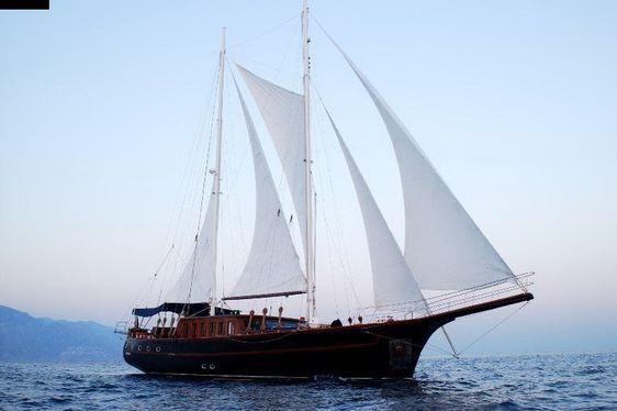 MYRA sailing along the Amalfi Coast