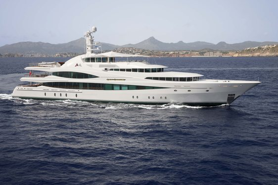 New charter yacht Lady Christine crusiing in Fiji