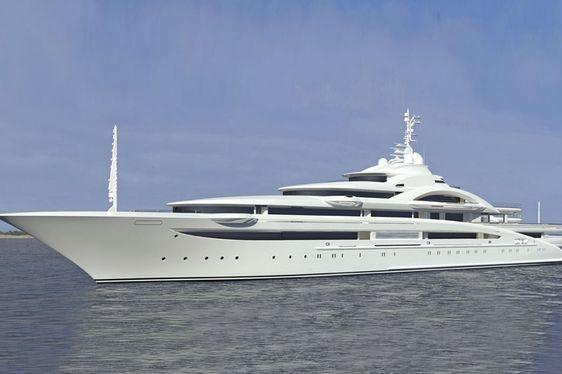 Superyacht MARYAH Undergoing her First Sea Trials
