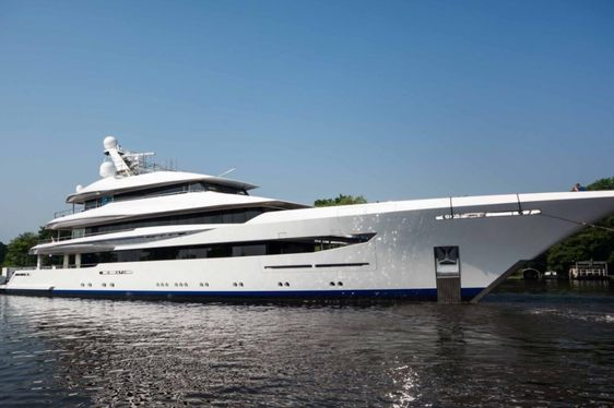 Feadship Superyacht JOY Departs From The Shipyard