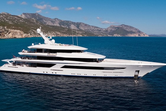 motor yacht JOY cruising in the Mediterranean during a luxury yacht charter