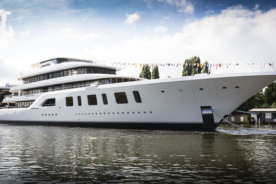 Brand New 92m Feadship Superyacht AQUARIUS Launched In Aalsmeer