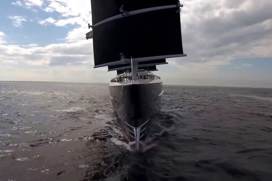 Brand New Video Of 106m Oceanco Sailing Yacht 'Black Pearl'