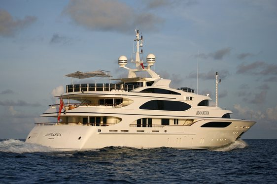 Benetti Superyacht ANNAEVA Newly Available in Sardinia