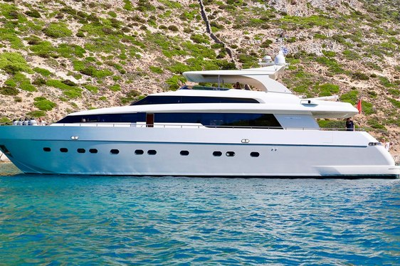 Superyacht PANTHOURS reveals charter availability in Sardinia