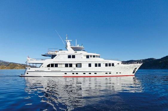 Motor yacht METSUYAN IV at anchor
