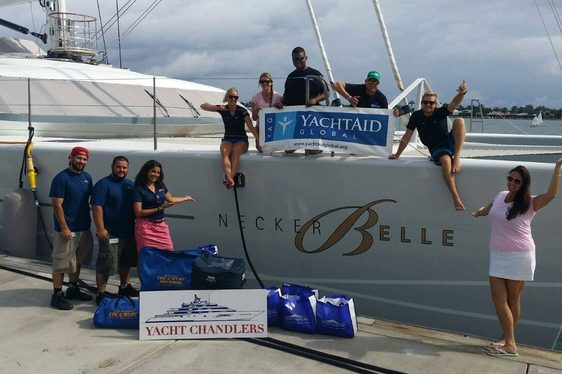Richard Branson's Charter Yacht 'Necker Belle' teams up with YachtAid Global