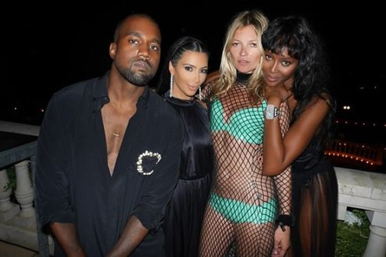kanye west, kim kardashian, kate moss and naomi campbell
