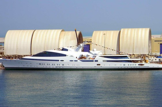 141m Superyacht YAS Undergoing Sea Trials