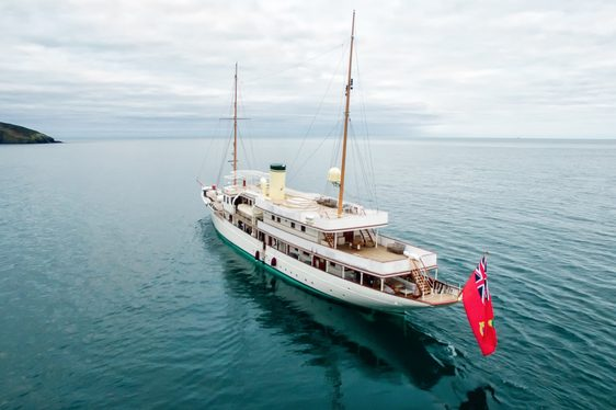 luxury yacht Haida 1929 cruising in the Mediterranean on a charter vacation
