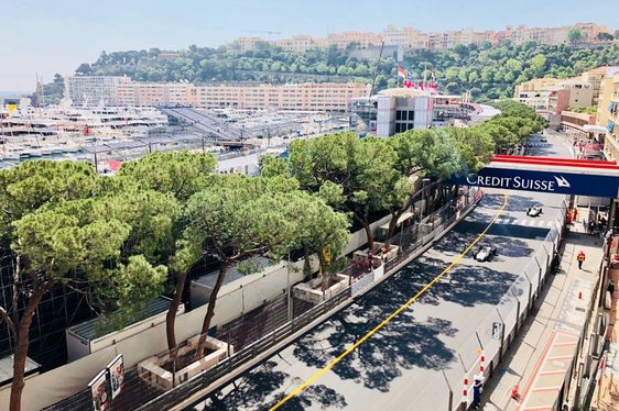 vintage racing car takes to the streets of Monaco during the Monaco Historic Grand Prix