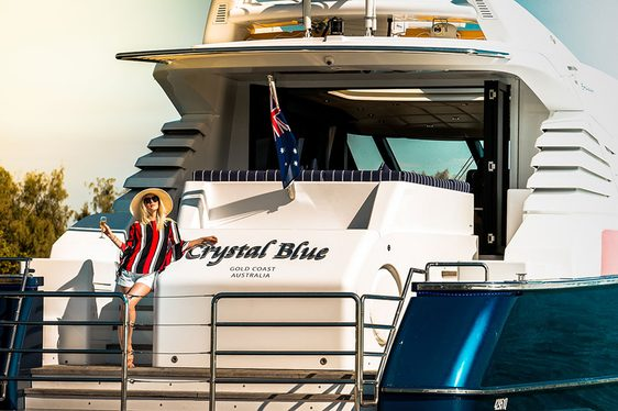 Motor Yacht 'Crystal Blue' Cruises Australia's Gold Coast