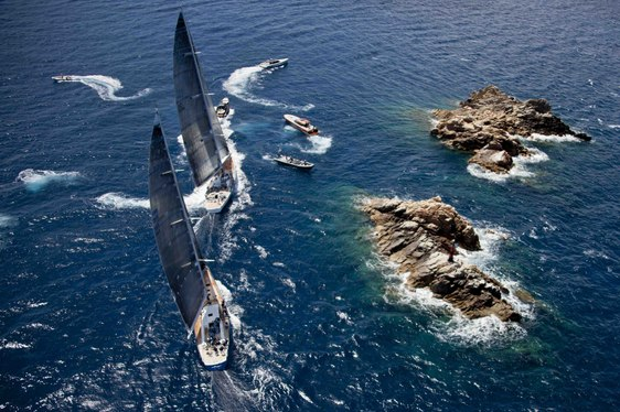 Racing Underway at the 2014 Loro Piana Superyacht Regatta