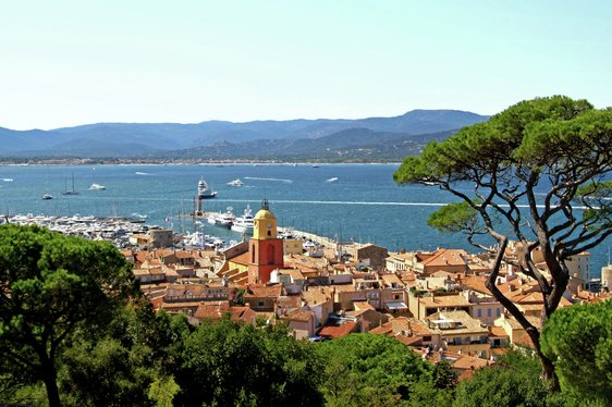 View looking out over St Tropez