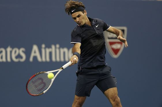Roger Federer at the US Open