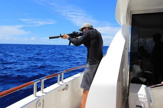 VIDEO: Gun Range on a Superyacht
