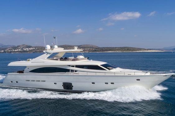 motor yacht ASTARTE underway on a Greece yacht charter