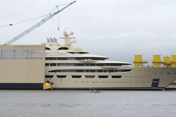 VIDEO: Project Omar Launched by Lurssen - is she the new Superyacht DILBAR?