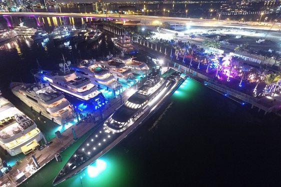 Miami's New Superyacht Marina Opens Outdoor Lounge