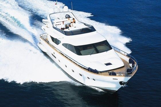 Charter yacht Riviera cruising in the Mediterranean