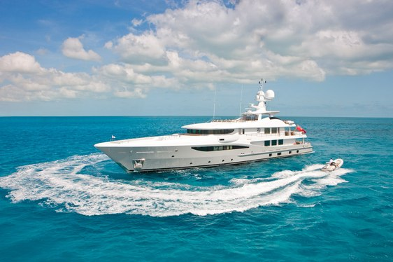 Superyacht APRIL now available for charter