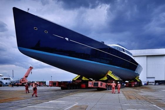 Oceanco's 85-metre Sailing Yacht AQUIJO Launched