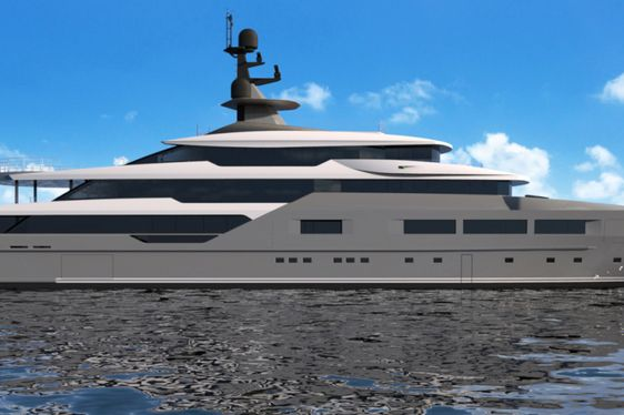 superyacht SOLO underway during a luxury yacht charter in the Mediterranean