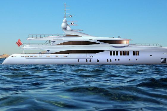 charter yacht O'MATHILDE underway in Greece