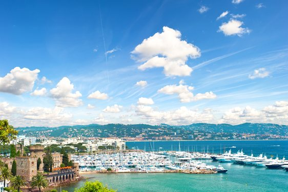 View of the town of Nice, France