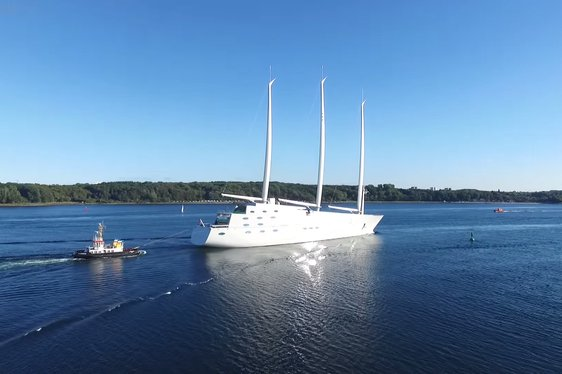 VIDEO: Aerial View of 143m Sailing Yacht 'A'