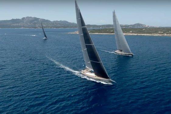 Superyachts participating in Loro Piana Superyacht Regatta