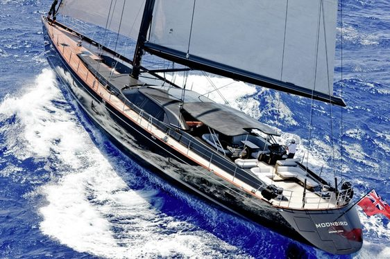 'Moonbird' sailing in the Caribbean