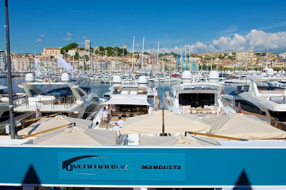 Mangusta Yachts the popular charter yachts builder stand