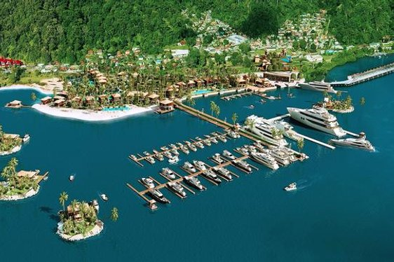Artist impression of the new superyacht marina at Golfito Bay in Costa RIca