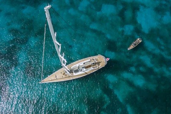 sailing yacht MUZUNI cruising in the Caribbean on charter