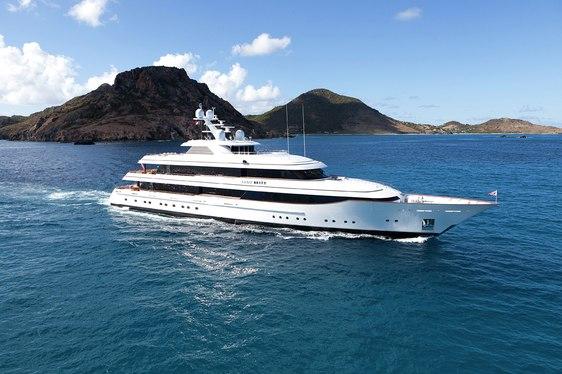 Superyacht LADY BRITT Cruising in the Caribbean
