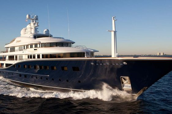 Superyacht AQUILA undergoing extensive refit and auctions existing interior