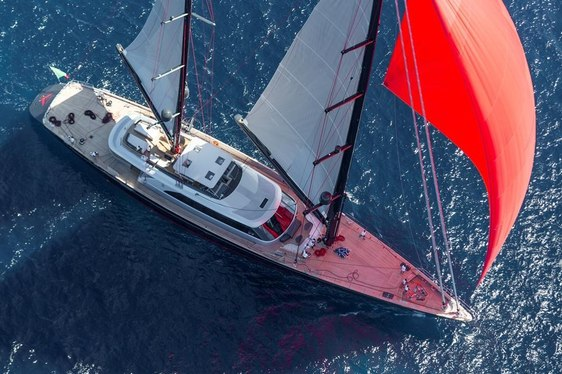 VIDEO: Perini Navi Sailing Yacht SEAHAWK in the British Virgin Islands